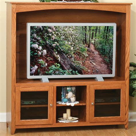 Glass Door Entertainment Center Amish Entertainment Centers Linden Glass Door Entertainment Center