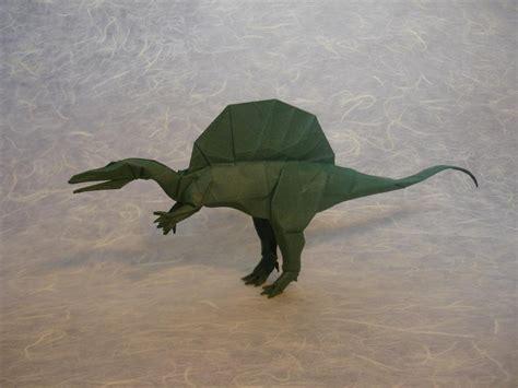 Origami Spinosaurus - spinosaurus by origami artist galen on deviantart