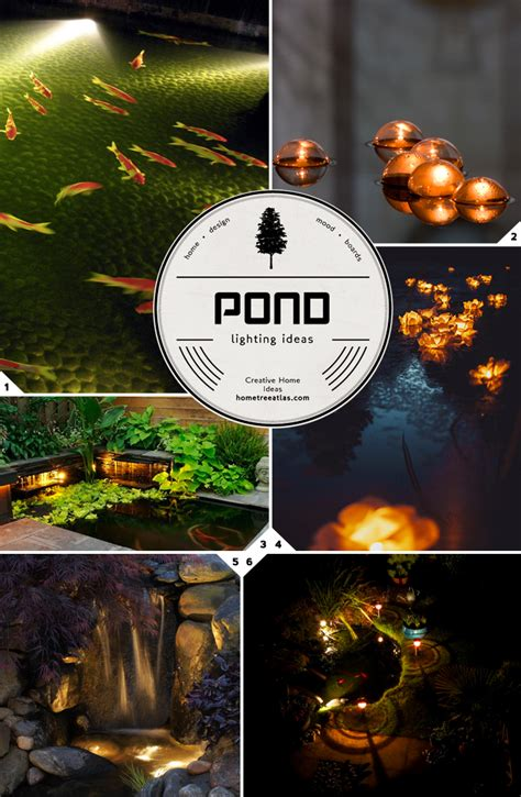 outdoor pond lights fishes swimming in the outdoor pond lighting ideas