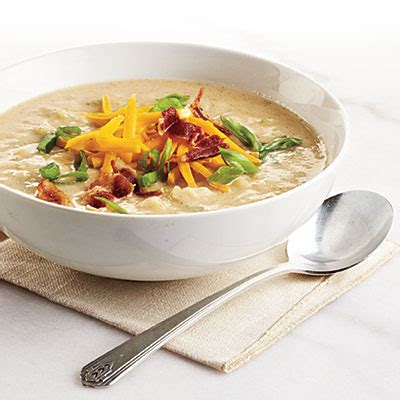 less loaded potato soup recipe makeover cooking light