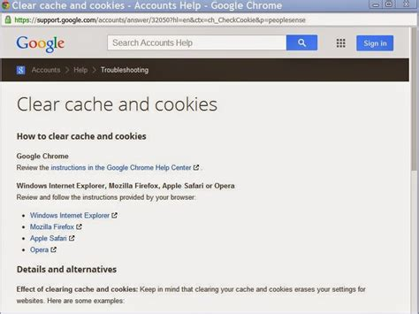 clear cookies clear cache internet explorer