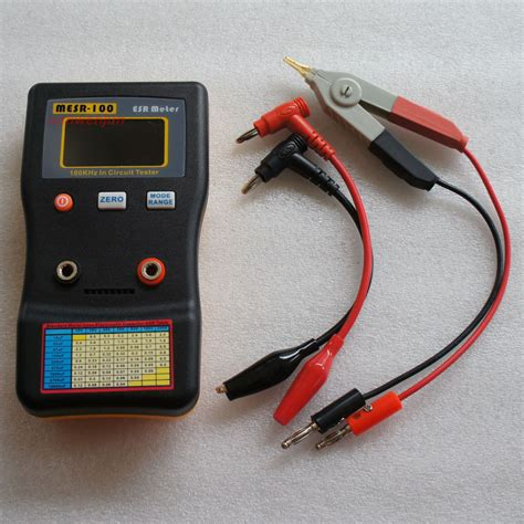 testing capacitor esr mesr 100 v2 esr low ohm in circuit test capacitor meter include smd clip probe ebay