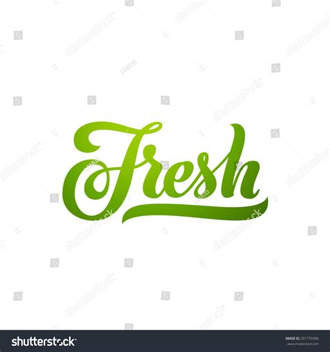 To Be Fresh by Fresh Word Lettering Handmade Vector Stock Vector