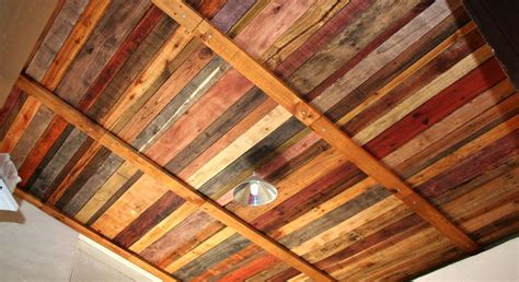 recycled pallet wood ceiling there s no place like home