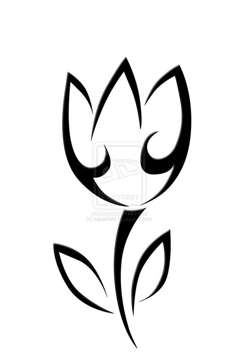 tribal outline tattoo designs 29 tulip flower tattoos designs and stencils collection