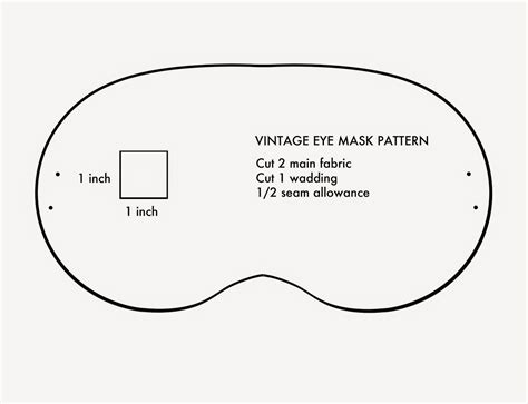 eye mask template amelie and atticus vintage eye mask tutorial