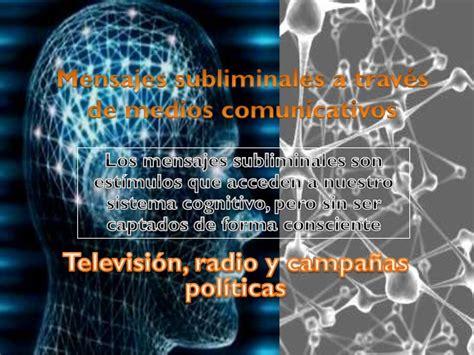mensajes subliminales buenos los mensajes subliminales en la comunicaci 243 n visual