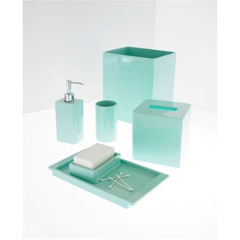 blue bathroom lights solid lacquer light blue bath accessory collection blue