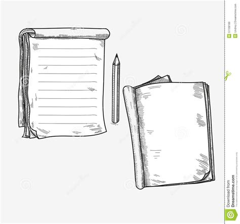 sketch book quaderni doodle sketch open notebook clear page stock