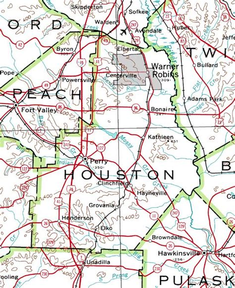 houston map by county county of houston georgiainfo