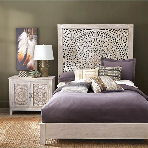 home decorators headboards home decorators collection chennai white wash platform bed 9467800410 the home depot