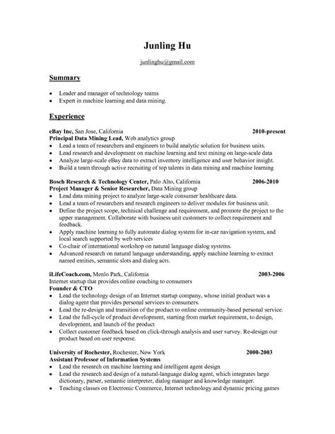 sle resume of data scientist 28 images entry level