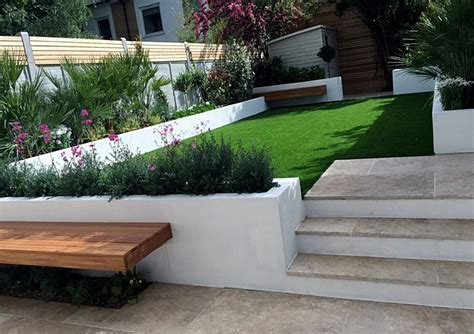london artificial grass planting raised beds clapham