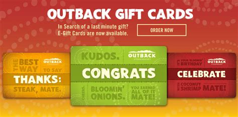 Outback Steakhouse E Gift Card - restaurant gift cards for outback steakhouse