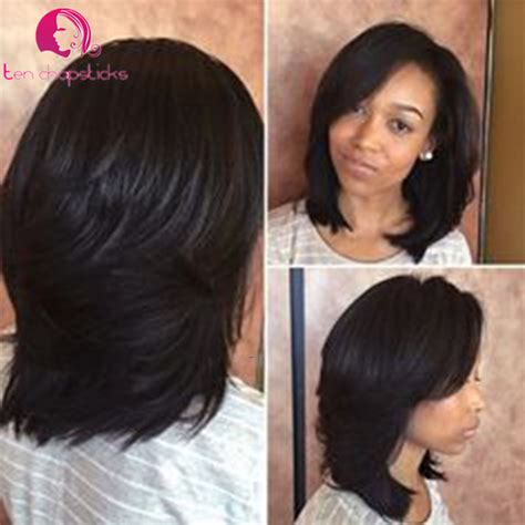 no part weave hairstyles 9a human hair bob full lace short human hair wigs for