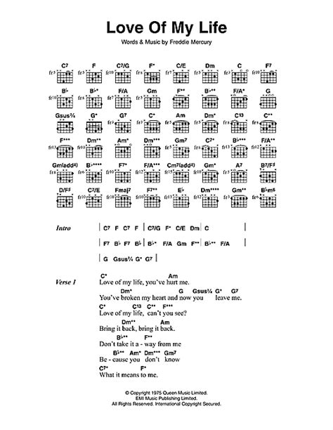 download mp3 queen love of my life love of my life sheet music by queen lyrics chords