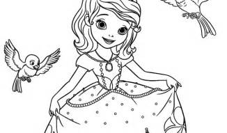 sofia the first robin and mia coloring pages free