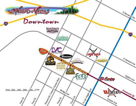 map of downtown las vegas las vegas maps wizard of vegas
