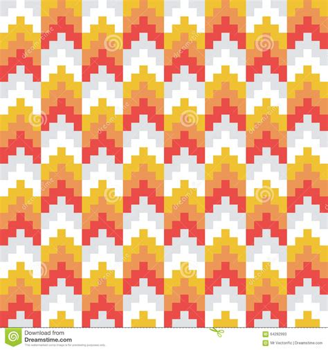 abstract patterns arrows seamless pattern stock seamless vector abstract red orange retro pixel arrow