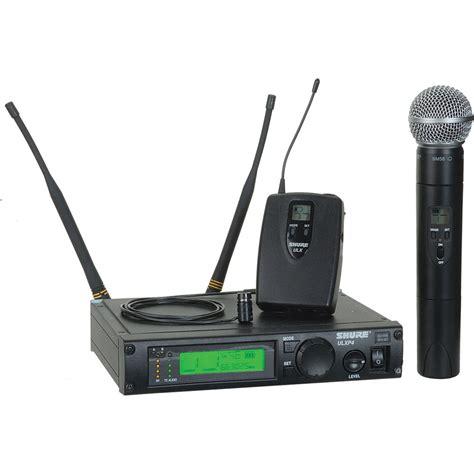 Wireless Microphone Shure Bisa Ubah Frequensi shure ulx professional series wireless dual ulxp124 85