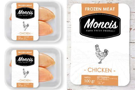 design untuk label sribu label design desain label untuk makanan olahan beku