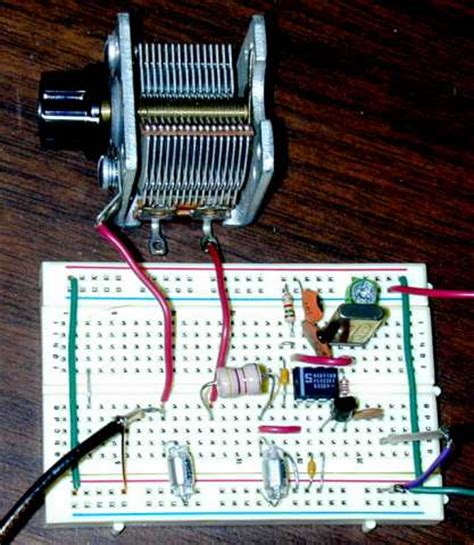 vernier tuning capacitor variable tuning capacitor