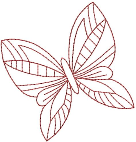 embroidery design membership pretty butterfly redwork embroidery design annthegran