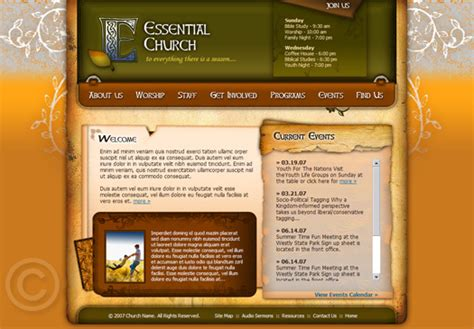 Church Web Templates by Church Website Template Church Web Template