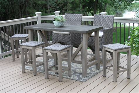 Furniture Delightful Patio Bar Height Table And Chairs Patio Furniture Bar Height