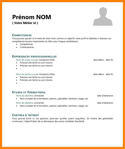 Cv Modele Simple cv simple manqal hellenes co