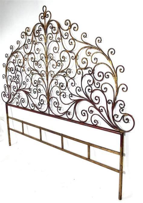 wall mounted headboards for sale italian gilt metal king size headboard for sale at 1stdibs