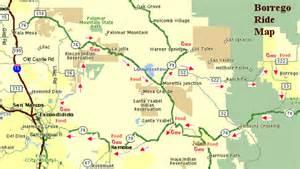 borrego springs california map borrego springs motorcycle trip description