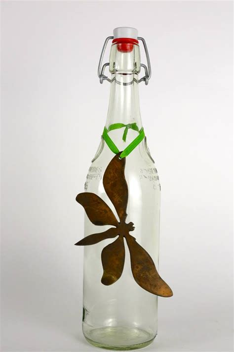 metal workings for sale dragonfly wine bottle charm