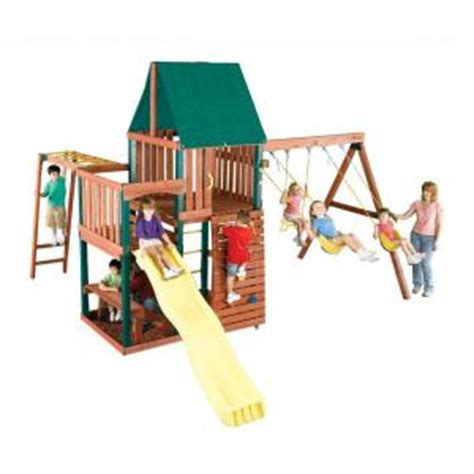 home depot swing set kits swing n slide playsets chesapeake wood complete play set