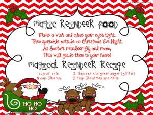 Reindeer poem and recipe card here for free