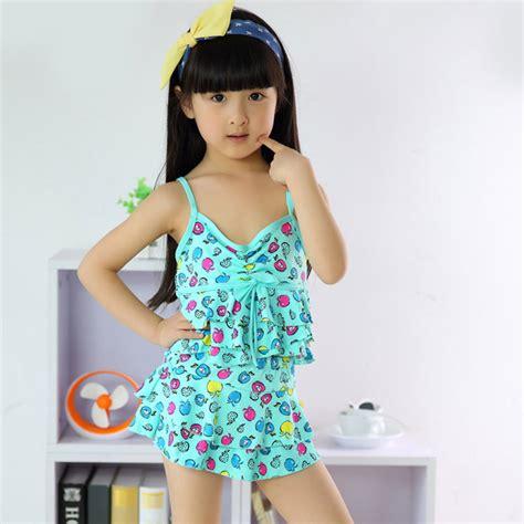 kids two piece swimwear cute little girls printed swimwear beachwear dress