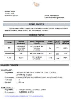 Resume Sles For Experienced Electronics And Communication Engineers cv and resume sles with free free resume
