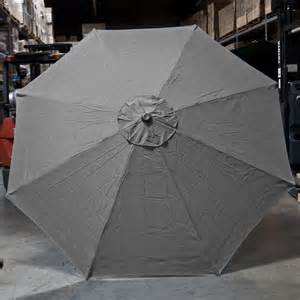 Patio Umbrella Canopy New Patio Market Outdoor 9 Ft 8 Ribs Umbrella Cover Canopy Grey Replacement Top Ebay