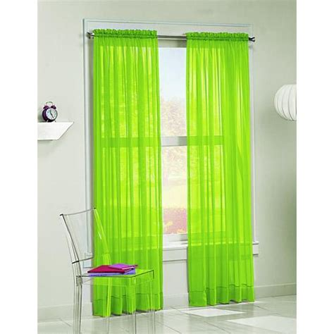 Sheer Green Curtains Lime Green Curtain
