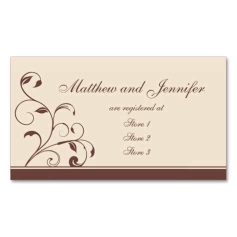 bridal shower registry card template 5 best images of wedding gift registry cards wedding