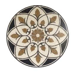 marble stone mosaic medallion round floor wall art tile decorate medallion 36in ebay