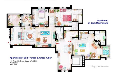 apartments accurate floor plans of 15 famous apartments accurate floor plans of 15 famous tv show apartments