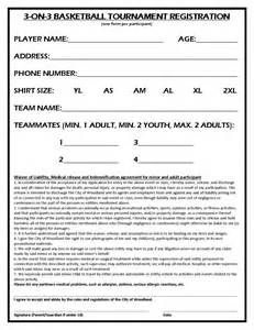 3 On 3 Basketball Tournament Registration Form Template by City Of Woodland California 3 On 3 Basketball Tournament