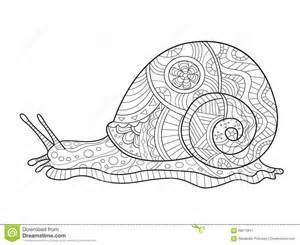 livre coloriage escargot pour le vecteur adultes illustration vecteur image 68673841