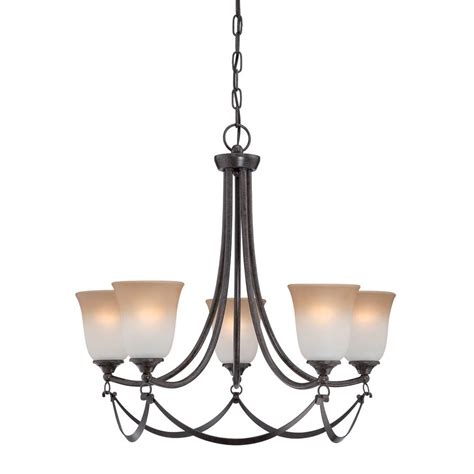 Allen Roth Lws0333c 5 Light Drape Imperial Bronze Lowes Allen Roth Chandelier