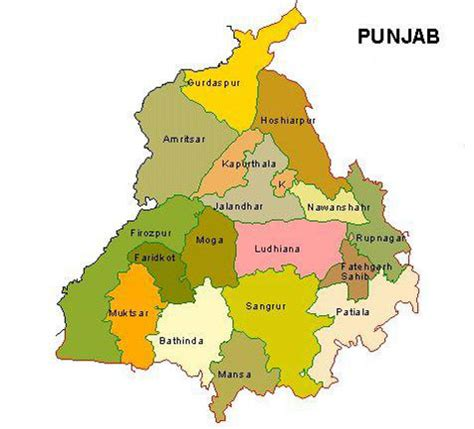 map of punjab punjab tours punjab tourism travel punjab