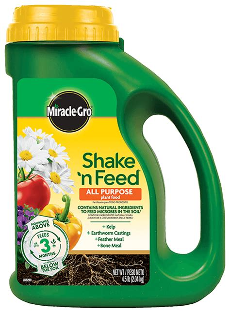 miracle gro shake  feed  purpose plant food