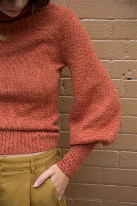 May Sweater mara hoffman may sweater in rust garmentory