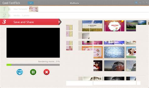 Fastflick 简单三步完成视频文件编辑 会声会影中文官网 Corel Fastflick Templates