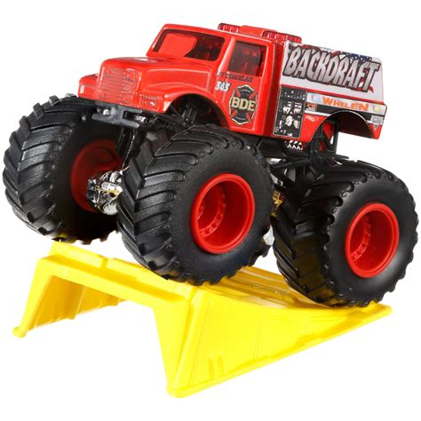 monster truck toy video wheels monster jam dragon blast challenge play set